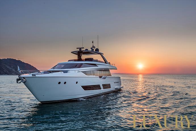 Ferretti Yachts 850 at FLIBS