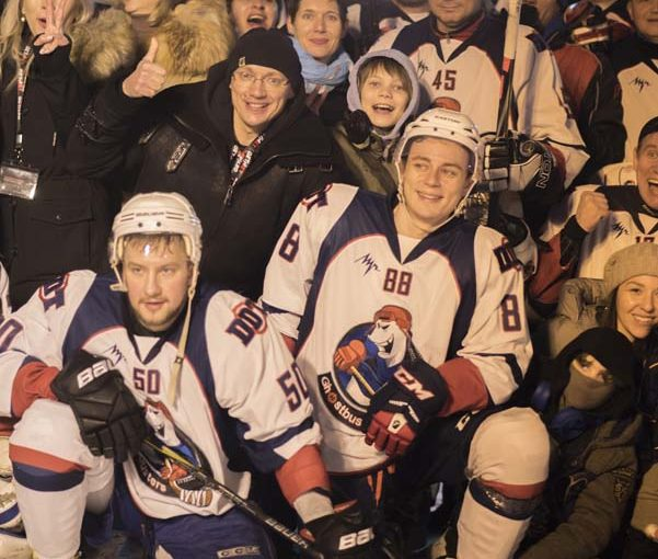 ICE HOCKEY: GALA MATCH OF STARS ON RED SQUARE WITH THE SUPPORT OF GETJET